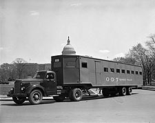 WWII Oversized Bus Trailer for War Workers Photo Print for Sale