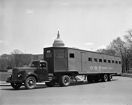 WWII Oversized Bus Trailer for War Workers Photo Print