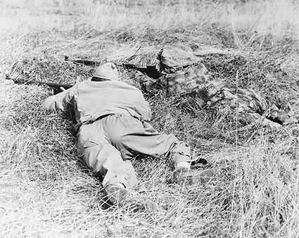 WWII Snipers Camouflaged in the Brush Photo Print