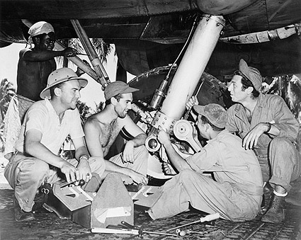 WWII Soldiers & B-17 Aircraft 1942 Photo Print