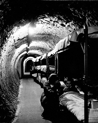 WWII Subway Tunnel Shelter, 1940s England Photo Print