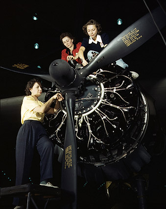 WWII Women Building C-47 Douglas Airplane Photo Print