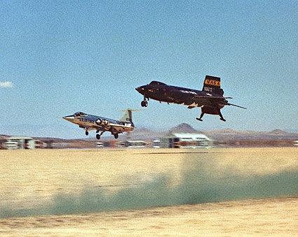 X-15 No. 3 Aircraft & F-104 Chase Plane Photo Print