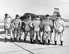 X-15 Test Pilots Clowning Around Photo Print for Sale