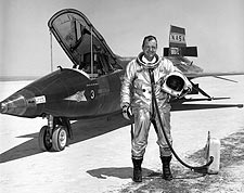 X-15 w/ Test Pilot Bill Dana Photo Print for Sale