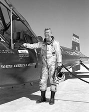 X-15 w/ Test Pilot Joe Walker Photo Print for Sale
