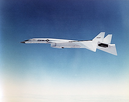 XB-70 Aircraft in Flight US Air Force Photo Print
