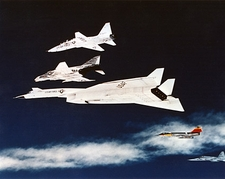 XB-70 Valkyrie Aircraft Formation in Flight Photo Print
