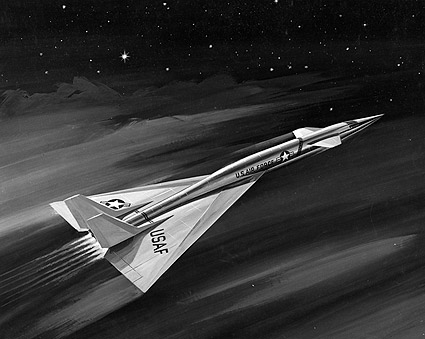 XB-70 Valkyrie in Flight Artistic Rendering Photo Print