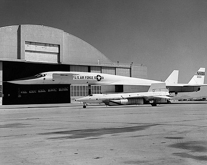 XB-70 & X-15 Parked on Ramp Photo Print