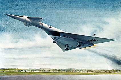 XB-70 / XB-70A Aircraft Takeoff Painting Photo Print