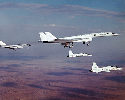 XB-70 / XB-70A Aircraft With Chase Planes Photo Print