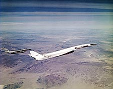 XB-70 / XB-70A Flying with B-58 Hustler Photo Print for Sale