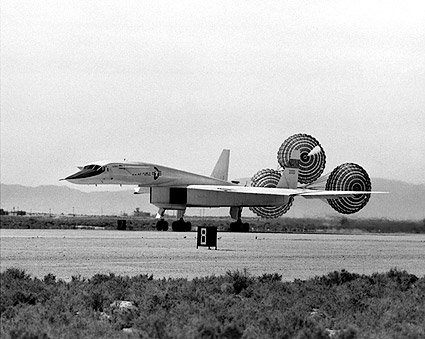 XB-70 / XB-70A Landing w/ Drag Chute Photo Print