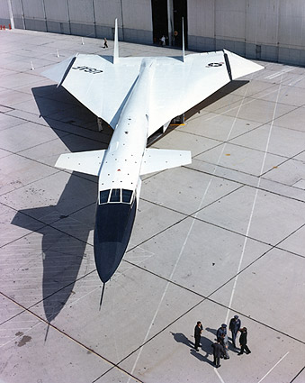 XB-70 / XB-70A Plane Parked By Hangar Photo Print