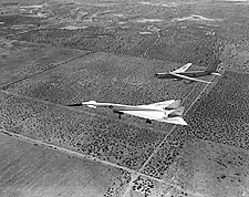 XB-70 / XB-70A Valkyrie & B-52 Approach Photo Print for Sale