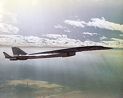 XB-70 / XB-70A Valkyrie B-58 Flight Test Photo Print