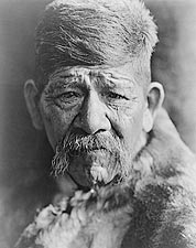 Yokuts Chief Edward S. Curtis Portrait 1924 Photo Print for Sale