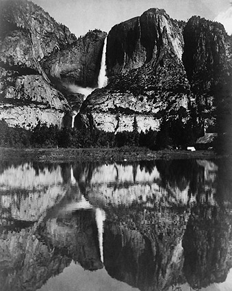 Yosemite Falls Merced River Reflection 1906 Photo Print