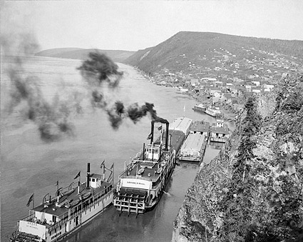 Yukon River Riverboats, Alaska Early 1900s Photo Print