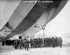 Zeppelin 3 Airship / Blimp at Lun�ville Photo Print for Sale
