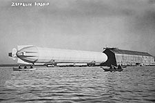 Zeppelin Airship / Blimp Entering Hangar Photo Print for Sale