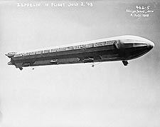 Zeppelin Passenger Airship In Flight 1908 Photo Print for Sale