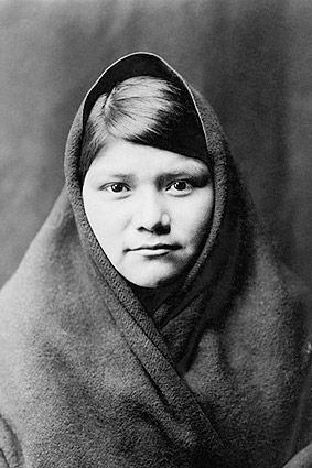 Zuni Indian Woman Edward S. Curtis Portrait Photo Print