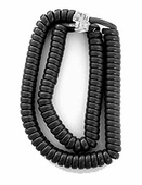 Standard Length Handset Cords for Avaya 9500, and 9600 Series (Charcoal Gray) 5/pk.