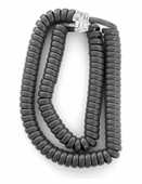Standard Length Handset Cords for Avaya 6200, 6400 Series (Gray) 5/pk.