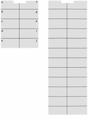 Definity 8434DX Telephone Labels (10 labels)