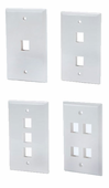 DynaCable Single Gang Wall Plates (1/2/3/4 Port) 10/pk.