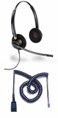 Plantronics HW520 Headset Package for Polycom SoundPoint IP and VVX Phones