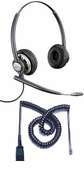 Plantronics HW720 Headset Package for Polycom SoundPoint IP and VVX Phones