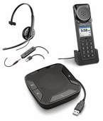 Plantronics USB Headsets, Handsets, and Speakerphones for Unified Communications (UC)