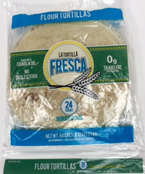 "Burrito Size Flour Tortillas by La Tortilla Fresca - 10"" - Two Dozen in Pack"