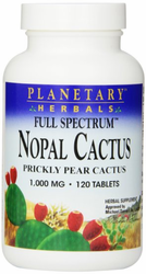 Cactus Nopal Pills by Planetary Herbals - For Diabetes and Weight Loss