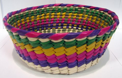 Canasto de Palma de Colores / Palm Tortilla Warmer Basket