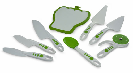Curious Chef Build a Kitchen 8 Piece Cutlery & Serving Set