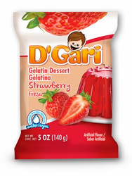 D'Gari Strawberry Gelatin (Pack of 3)