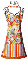 Day of the Dead Skulls Apron / Skeleton Wedding Theme