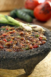 Del Real Foods Fire Roasted Fresh Red Salsa de Molcajete