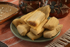Del Real Foods Gourmet Pork Tamales in Red Sauce