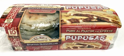 Pupusas - Del Real PUPUSAS with Pork al Pastor and Cheese