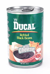Ducal Black Refried Beans with Cheese (Pack of 3)