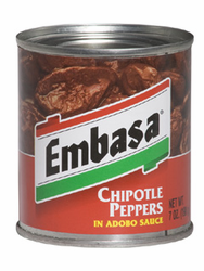Embasa Chipotle Peppers in Adobo Sauce (Pack of 3)