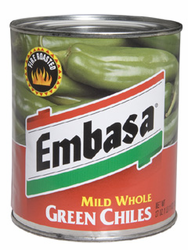 Embasa Whole Green Chiles - Mild