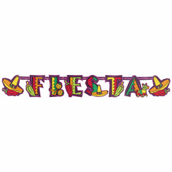 Fiesta Party Illustrated Letter Banner