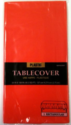 Fiesta Party Plastic Table Cover - Apple Red Color