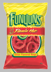 FUNYUNS FLAMIN' HOT Onion Flavored Rings (Pack of 3)